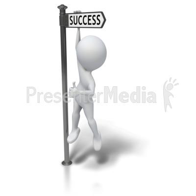 Hanging Around Successful PowerPoint Clip Art