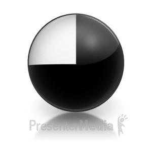 ID# 5795 - Harvey Ball Number Three Representation - Presentation Clipart