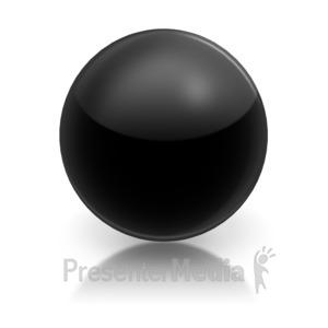 ID# 5796 - Harvey Ball Numberic Four Representation - Presentation Clipart