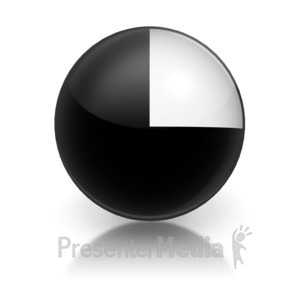 ID# 5797 - Harvey Ball Numberic Five Representation - Presentation Clipart