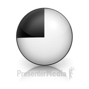 ID# 5799 - Harvey Ball Number Seven Representation - Presentation Clipart
