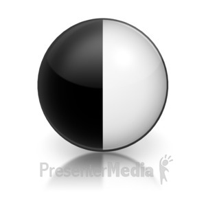 ID# 5800 - Harvey Ball Numberic six Representation - Presentation Clipart