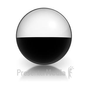 ID# 5802 - Harvey Ball Numberic Nine Representation - Presentation Clipart