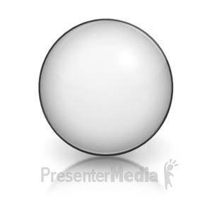 ID# 5803 - Harvey Ball Numberic Ten Representation - Presentation Clipart