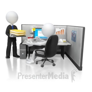 ID# 5810 - Boss Giving Office Work Task - Presentation Clipart