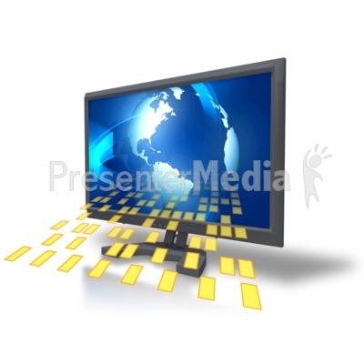Computer Monitor Data PowerPoint Clip Art