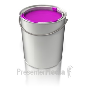 ID# 5836 - Filled Paint Bucket - Presentation Clipart
