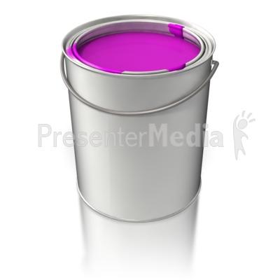 Filled Paint Bucket PowerPoint Clip Art