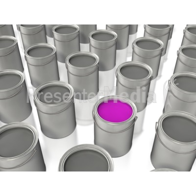 Paint Bucket Color Stand Out PowerPoint Clip Art
