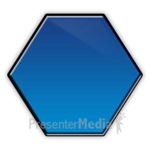 ID# 5842 - Hexagon Flow Chart Symbol - Presentation Clipart