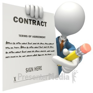 ID# 5844 - Contract Salesman Signature - Presentation Clipart