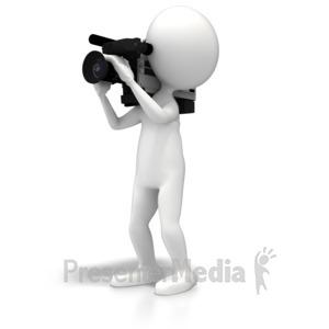 ID# 5858 - Television Cameraperson - Presentation Clipart