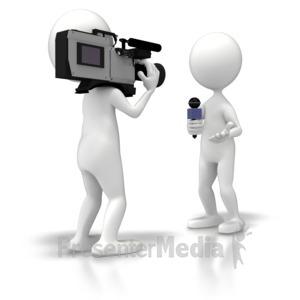 ID# 5861 - News Crew Reporter - Presentation Clipart