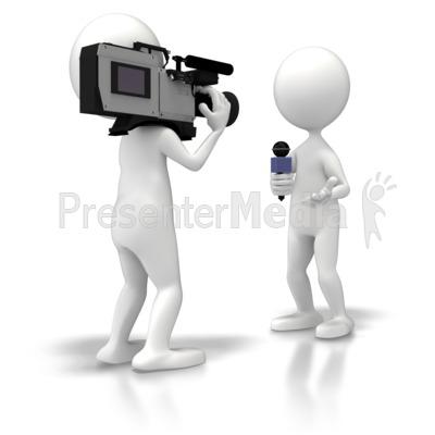 News Crew Reporter PowerPoint Clip Art