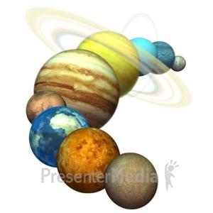 ID# 5863 - Plant Solar System - Presentation Clipart