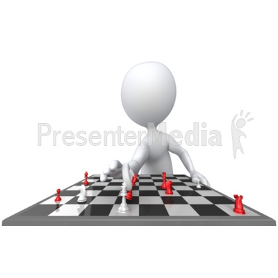 Stick Figure Check Mate PowerPoint Clip Art