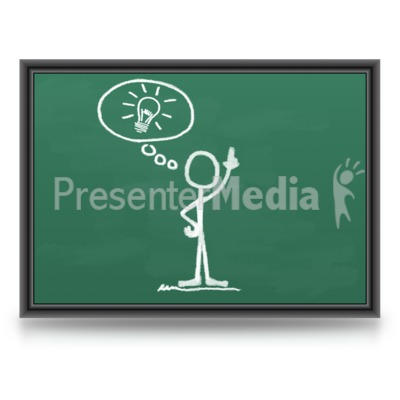 Chalk Figure Light bulb Idea PowerPoint Clip Art