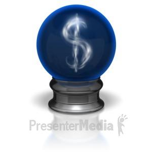 ID# 5895 - Crystal Ball Dollar - Presentation Clipart