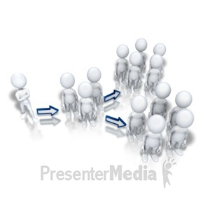 ID# 5908 - Down the Chain of Command - Presentation Clipart