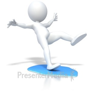 ID# 5916 - Slip On Water Puddle - Presentation Clipart