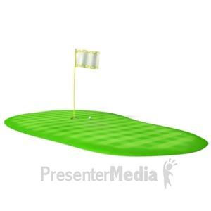 ID# 5921 - Golf Green - Presentation Clipart