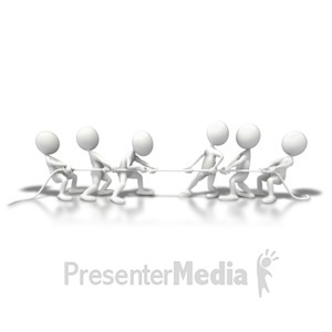 ID# 5922 - Teams Tug Of War - Presentation Clipart