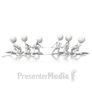 ID# 5922 - Teams Tug Of War - Presentation Clipart