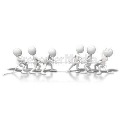 Teams Tug Of War PowerPoint Clip Art