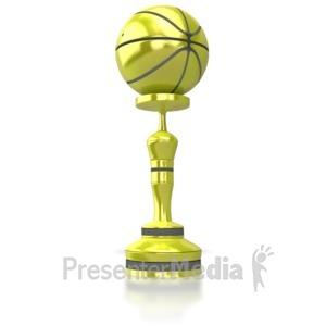 ID# 5946 - Basket Ball Trophy - Presentation Clipart
