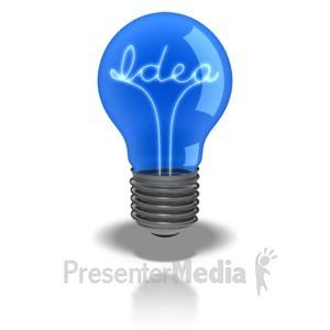 ID# 5951 - Idea Light Bulb - Presentation Clipart