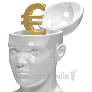 ID# 5953 - Euro Inside Head - Presentation Clipart