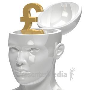 ID# 5954 - Pound Inside Head - Presentation Clipart