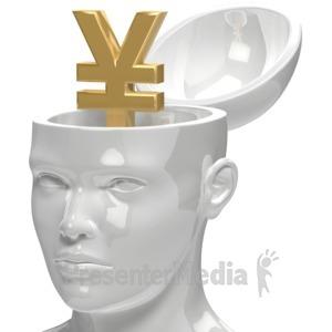 ID# 5955 - Yen Inside Head - Presentation Clipart