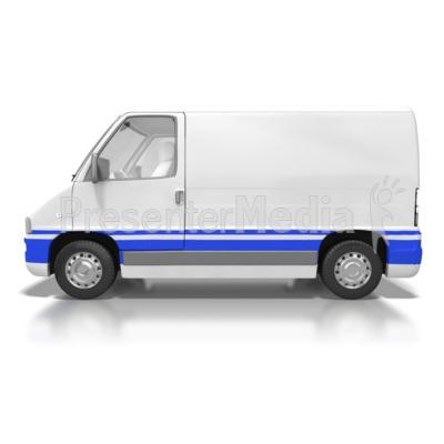 Cargo Van PowerPoint Clip Art