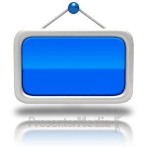 ID# 5977 - Window Sign Blank - Presentation Clipart