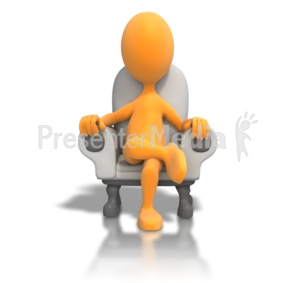 Sitting In Chair Relaxing PowerPoint Clip Art