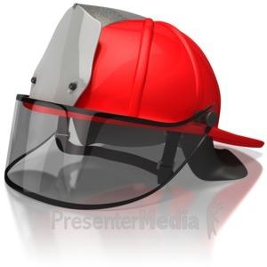 ID# 6031 - Firefighter Helmet - Presentation Clipart