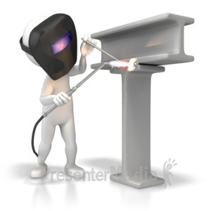 ID# 6058 - Welder With Torch - Presentation Clipart