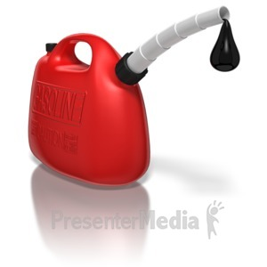 ID# 6060 - Gas Can With Oil Drip - Presentation Clipart