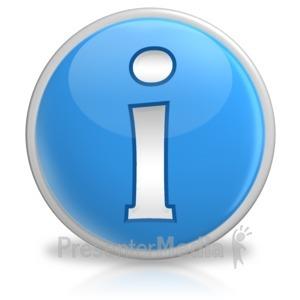 ID# 6174 - Information Button Symbol Icon - Presentation Clipart