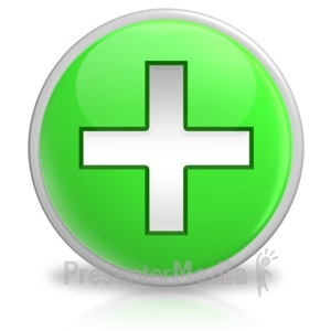 ID# 6175 - Plus Button Symbol Icon - Presentation Clipart