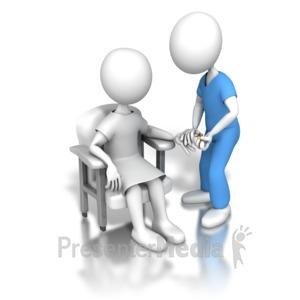ID# 6211 - Nurse Capillary Blood Draw - Presentation Clipart