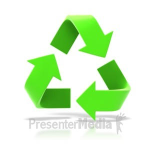 ID# 6226 - Recycle Symbol - Presentation Clipart