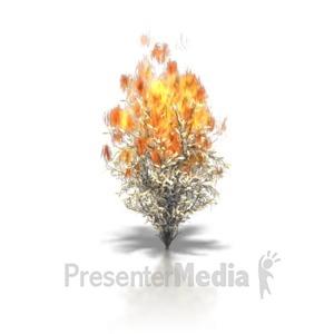 ID# 6232 - Burning Bush - Presentation Clipart