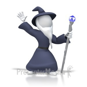 ID# 6238 - Wizard Pose - Presentation Clipart