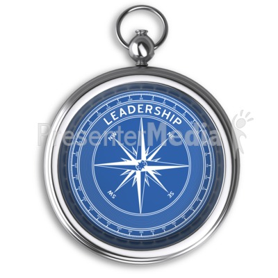 Compass Leadership No Dial PowerPoint Clip Art