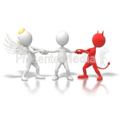 Angel devil tug war home and lifestyle great clipart for presentations - Free evil angel pictures ...
