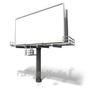 ID# 6270 - Angled Billboard Display - Presentation Clipart