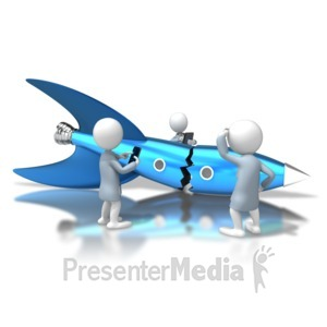ID# 6282 - Failure To Launch - Presentation Clipart