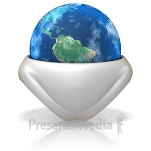 ID# 6284 - Earth In a Diaper - Presentation Clipart